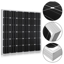 150W Solar Panel, Monocrystalline for 12V Battery Charging