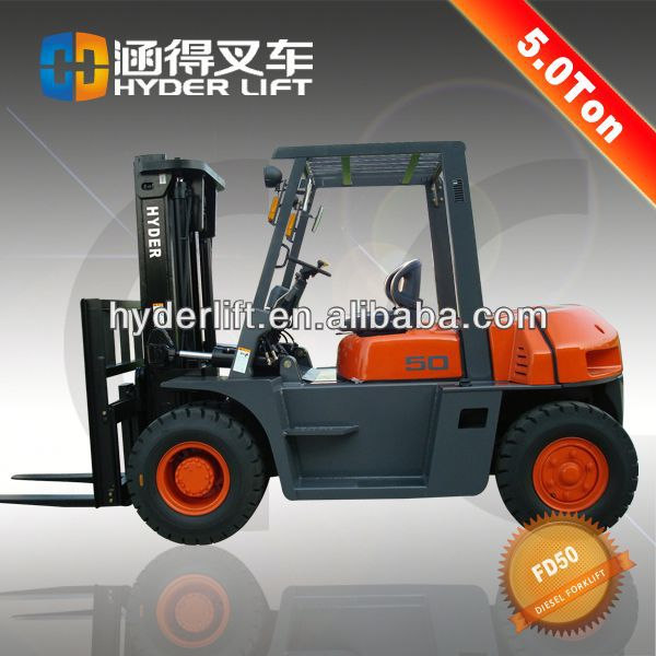 5ton forklift with pneumatic tire