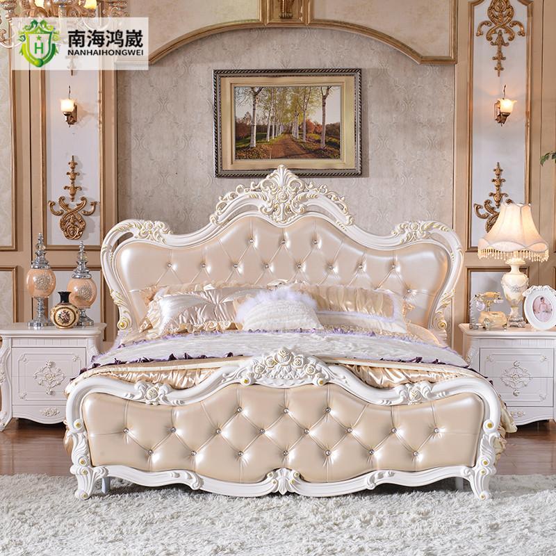 Bursa francese classica scultura in legno mobili camera da letto in pelle da sposa camera da - Camera da letto in francese ...