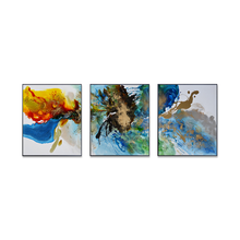 New style modern abstract 3 panel canvas painting wall art