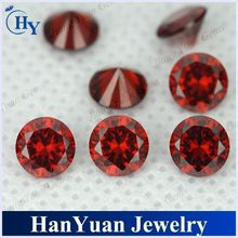 lab created machine cut 1mm garnet round cz