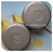 stainless steel socket weld end cap for pvc pipe