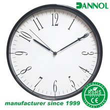 "Guangzhou furniture market 12"" plastic decorative art household daily use wall clock"