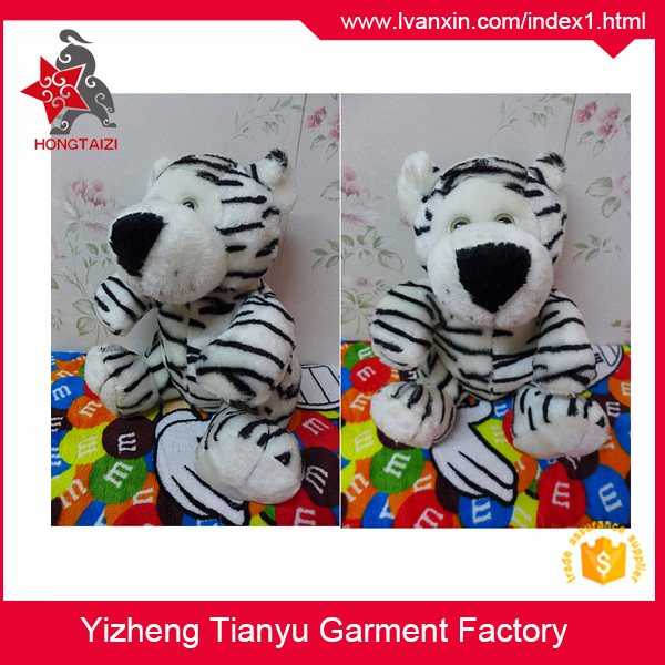 Soft material fashion design custom animal plush toy stuffed tiger toy