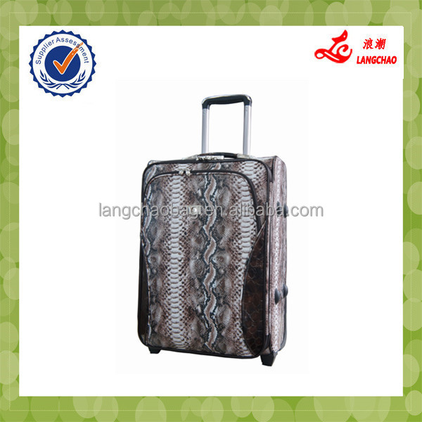Gorgeous High-end Snake Skin Leather Mini Trolley Suitcase