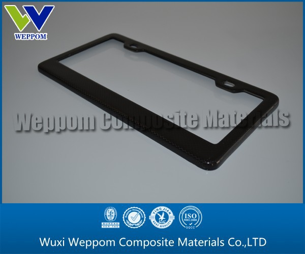 Custom Newest Design Carbon Fiber License Plate Frames For Car