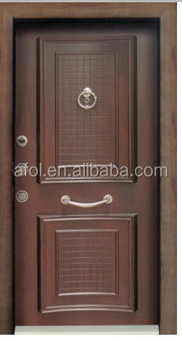 AFOL cherry colour mdf panel type door skin pvc flush door