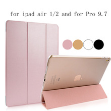 Ultra slim leather+pc case cover for apple ipad mini 1/2/3/4 and for air 1/2 and for Pro 9.7