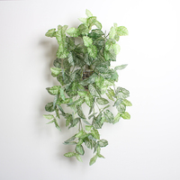 artificial plant for wall decor house furnish hanging silk leaf