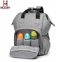 Diaper Bag / Grey , Multi Changing Pockets ,Baby Nappy Bag Backpack