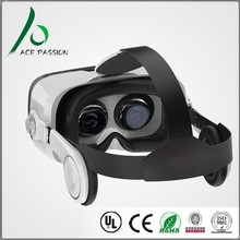 Hot Japanse lens 3d virtual reality glasses vr box 2.0 with remote