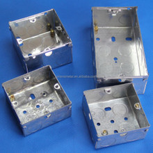 3*3 knockout galvanized metal switch box with 35mm 47mm deep