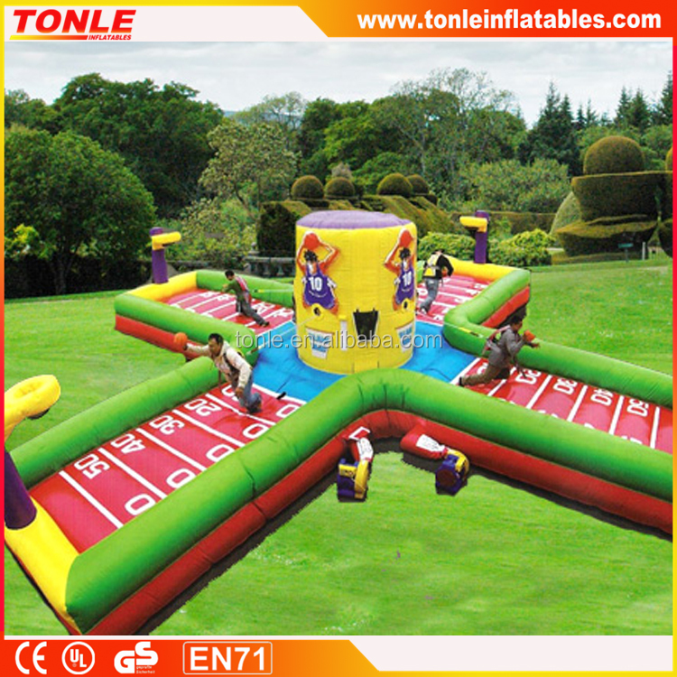 Inflatable Bungee Run Chealleange/Bungee Slam Dunk basketball/inflatable bungee run