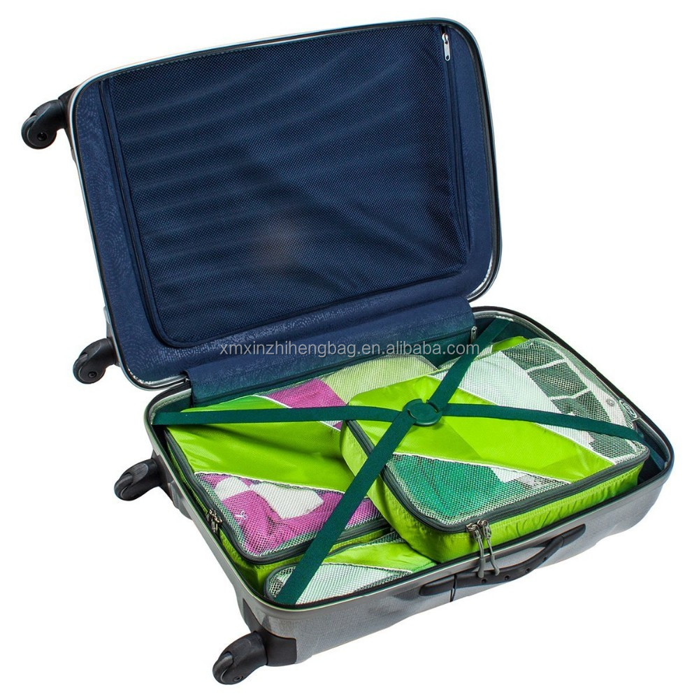 4 in 1 fashion ladies strorage packing cubes travel bag organizer