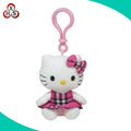 Custom soft stuffed toy plush hello kitty keychain