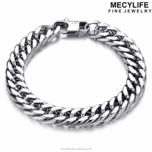 MECYLIFE Big Man Jewelry Cool Men's Stainless Steel Jewelry Link Bracelets