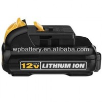 World Power~18650 rechargeable batteries 12 volt 1.5Ah Li-ion battery pack for Dewalt power tools replacement batteries