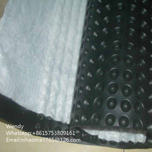 HOT Sale!HDPE dimple drainage board sheet styples for garage drainage export to Amercia