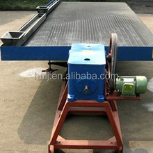 Gold mining gravity shaking table concentrator