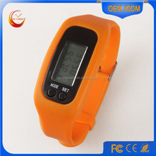 2016 Fashion sport pedometer watch wristband with printing custom logo