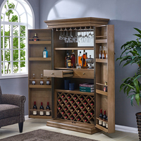Custom 16 year manufacturer modern wood home trunk wine cabinet bar cabinet