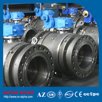 Epoxy Primer Coating Trunnion Mounted Fully Welded Ball Valve