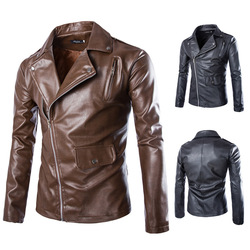 Men slim fit leather jackets cool coat leather motorcycle jacket motorcycle M/L/XL/2XL