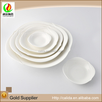 Lasted design high quality elegant white LM588 wedding dinner plates with great price