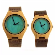 New arrival japan movement wooden watches 2017 quartz bamboo wristwatch