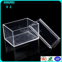 Cheap custom high clear plexiglass mini single rectangular bracelet display box with cover