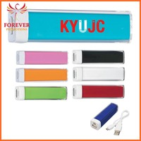 Hot Selling Lipstick Shape Power Bank Portable Charge it Up Power Bank With Cable