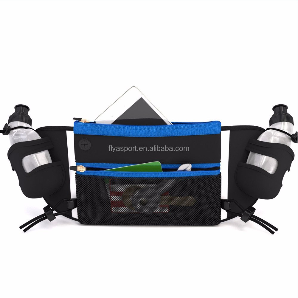 2018 Alibaba new product Hydration Running Belt With Water Bottles Holder