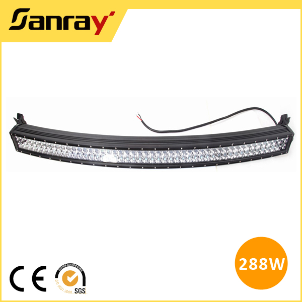 Rugged high lumen 108w 188w 288w water proof IP67 long-lasting double row illuminator led light bar