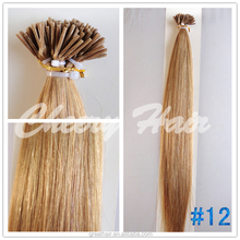 Indian Human Virgin Remy Hair I-Tip Extension silk strand hair extensions No Tangles 1g/strand