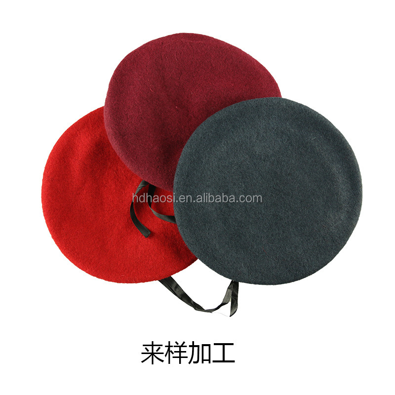 Custom Embroidery Army Beret,Military Beret Caps,Men's Wool Beret