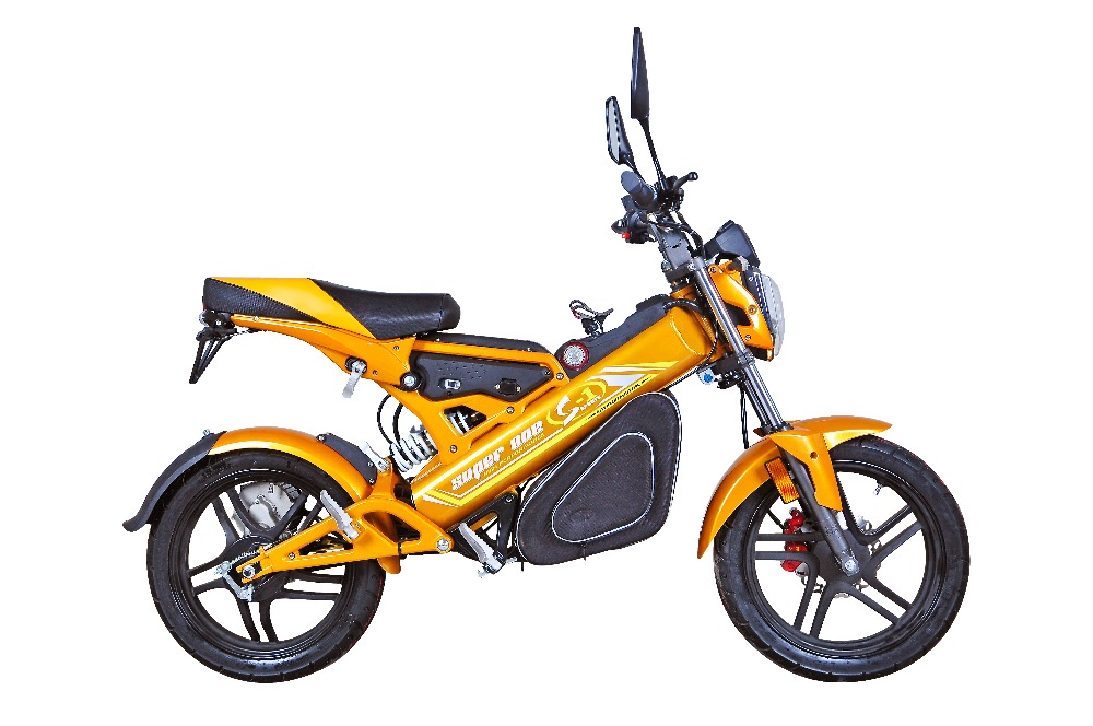 High Performance Mini CE Bike Sport Bike with Multi-function LCD Speedometer Cheap Yellow Electric Motorcycle