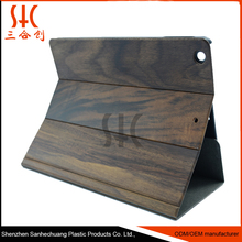 Natural Wood High Quality Leather Tablet Laptop For iPad MINI Macbook Case Handmade Cover /Handmade Cover for Ipad Macbook Case
