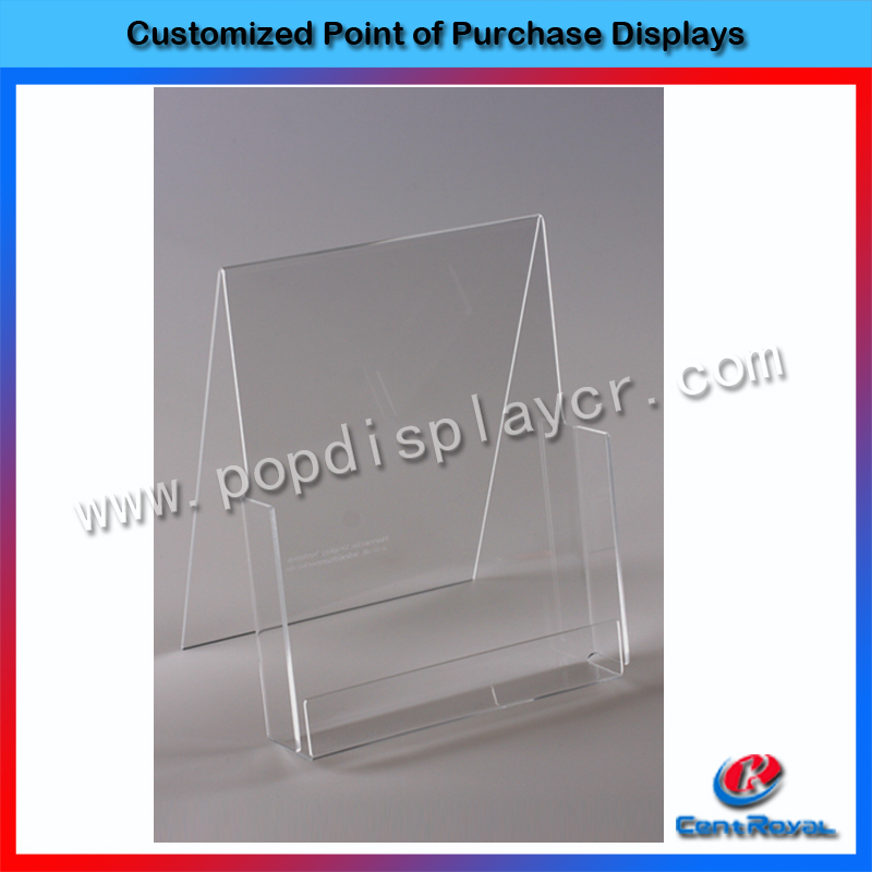 2017 Hot selling desktop card holder clear acrylic business card display rack