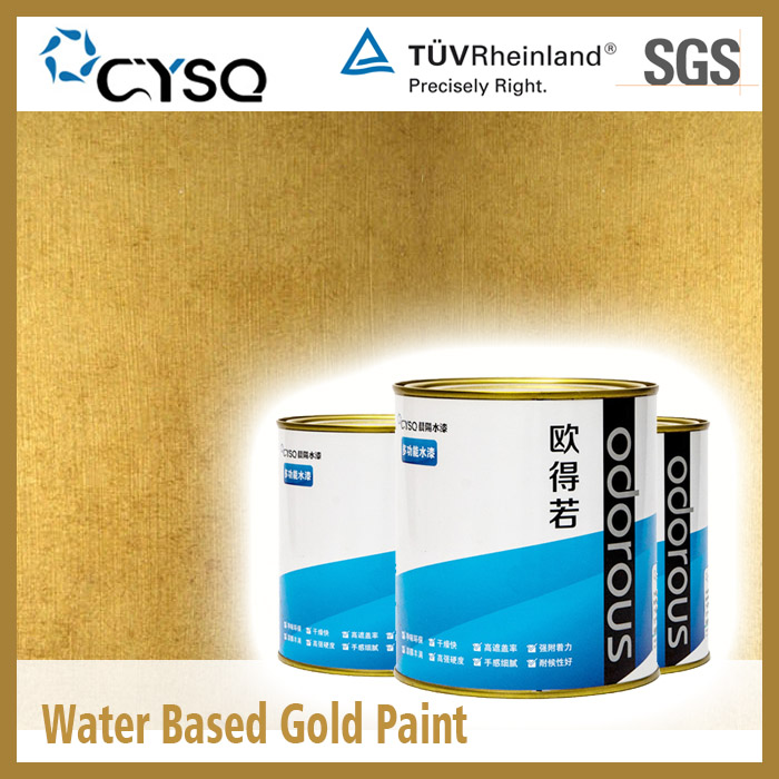 Water Based gold leaf paint