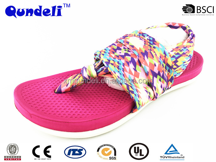 Newest fashion rubber sole eva softy insole beautiful lady sandal shoe