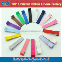Colorful grosgrain ribbon lined alligator hair clips design