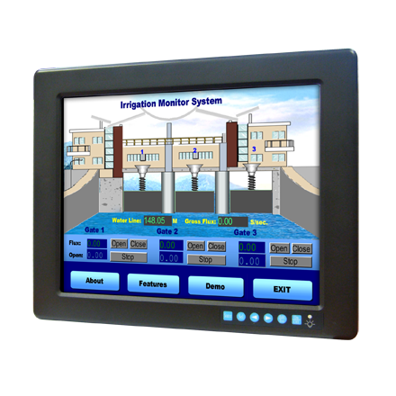 "FPM-3121G-R3AE Advantech <strong>12</strong>.1"" Touchscreen Industrial Monitor"
