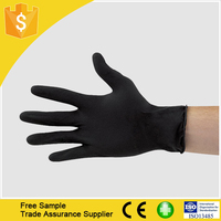 Disposable Black Nitrile Gloves Tattoo Latex