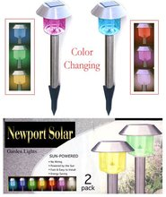 Stainless Steel Hut Color Changing Solar Lights
