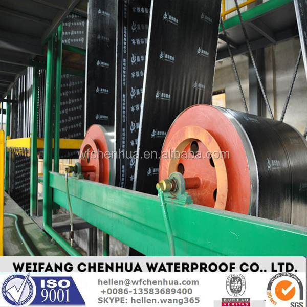 Modified bituminous waterproofing material machine -- China factory and Engineer installation