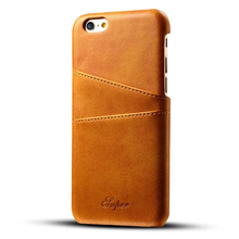 Business Style Luxury Leather phone Case Cover Fashion Wallet Card Holder mobile phone cases for iPhone 6 6s 7 case