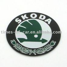car sticker for wheel cap with Skoda logo