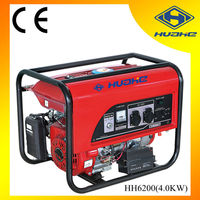 4KW Gasoline Generator Key Start with Battery, Big Panel