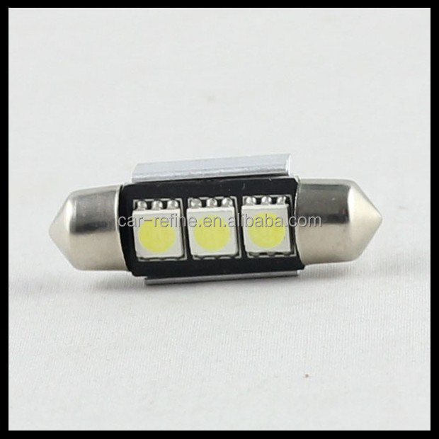 36mm C5W C10W CANBUS NO Error Festoon 3 led 5050 smd Car Licence Plate Light Auto housing Interior Dome lamps Reading Lights