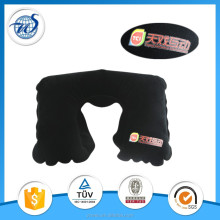 Individual inflatable travle neck pillow with pouch for personal use